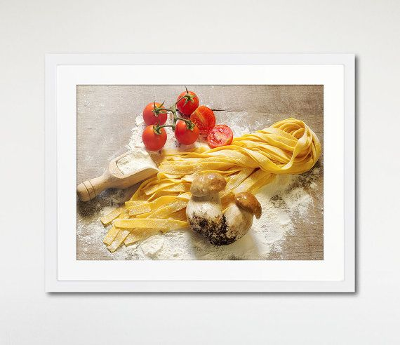 Pasta Art Framed, Wall Art Print, Food Photography, Wooden Frame. Photo by Donatella Tandelli.  DETAILS This print is made using professional photo