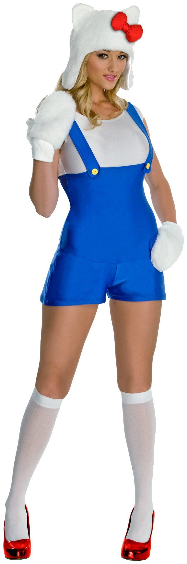 Cozy hello kitty cat animal sanrio fancy dress up halloween sexy adult costume for sale online