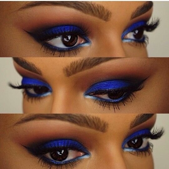 "MakeUp Tutorial for Black Women with Dark Skin | ""Shany ...  |Women Black And Blue Mascara"