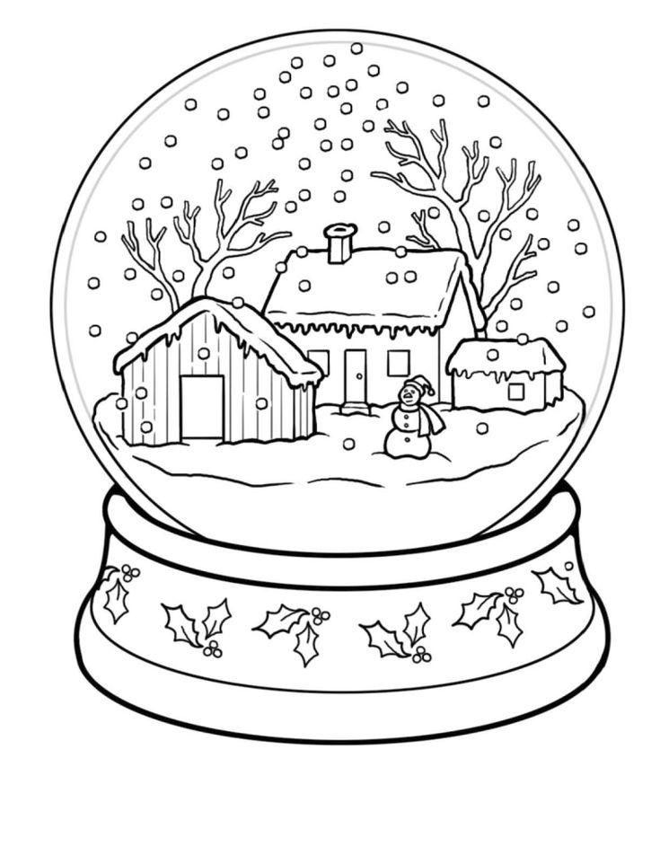 Картинки на зиму для срисовки