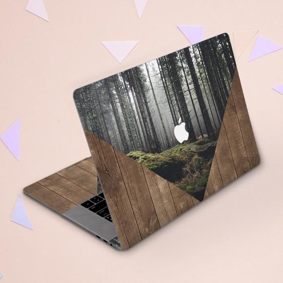 Macbook sticker wood Forest Macbook skin nature Inspirational a1932 macbook air Macbook 2017 Macbook