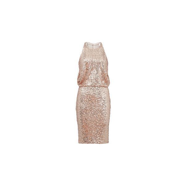 Rent Dresses by Badgley mischka Rent the Runway ❤ liked on Polyvore featuring dresses, short dresses, night out dresses, brown dress, brown party dress and badgley mischka dresses