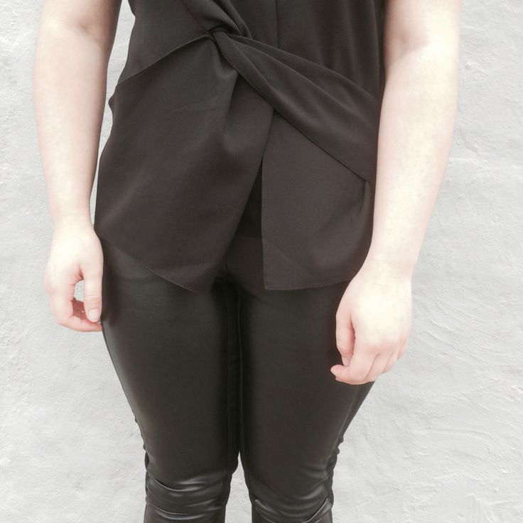 Front ties + leather | https://amyrosekennedy.wordpress.com  #amyrosekennedy #sportsgirlstyle @wearesportsgirl