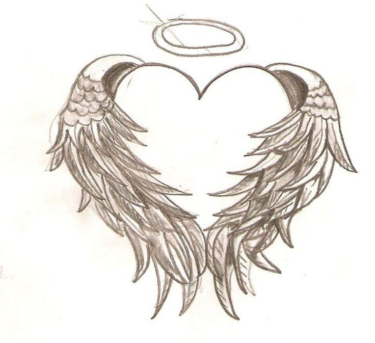 heart with angel wings tattoo tattoo design pinterest tattoo. Black Bedroom Furniture Sets. Home Design Ideas