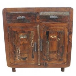 Reclaimed Timber Panel Sideboard 90cm