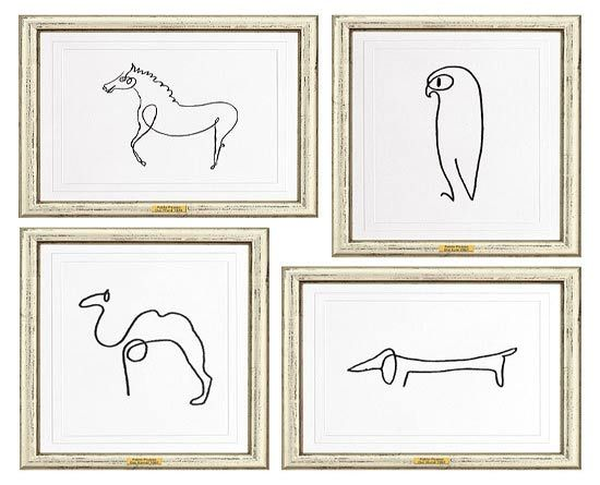 animals sketches by Picasso. How CUTE for a kids room! I'm in love!