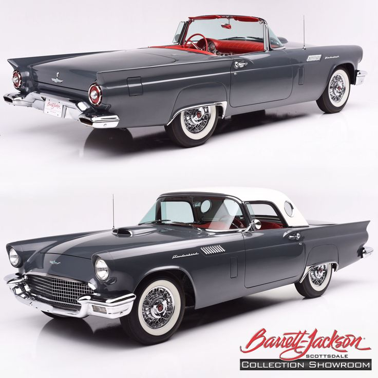 How would you like to see this beauty up close? Come to the Goodguys 7th Spring Nationals this weekend at WestWorld of Scottsdale to see this 1957 Thunderbird and five other head-turning cars that will be at the Barrett-Jackson display! #Ford #Thunderbird #Goodguys #Convertible #WestWorld #Scottsdale #BarrettJackson #CollectorCar #Auction
