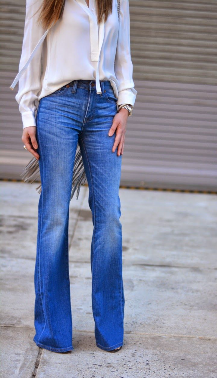 Bell Bottom Jeans &70s flares. Had to sit in the bath to shrink them.
