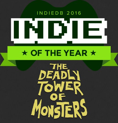 IndieDB are having the 7th Annual Indie of the Year Awards. Check out The Deadly Tower of Monsters on IndiedDB and if you like it, blast DToM into fame it deserves and vote for it on IndieDB! Here's the link: http://www.indiedb.com/games/the-deadly-tower-of-monsters #ACETeam #VideoGames #Gaming #GameDev #IndieDev #IndieGame #IndieGames #PCGame #PCGames #Steam #ActionGames #AtlusUSA #SciFi #ScienceFiction #BMovie #IndieDB
