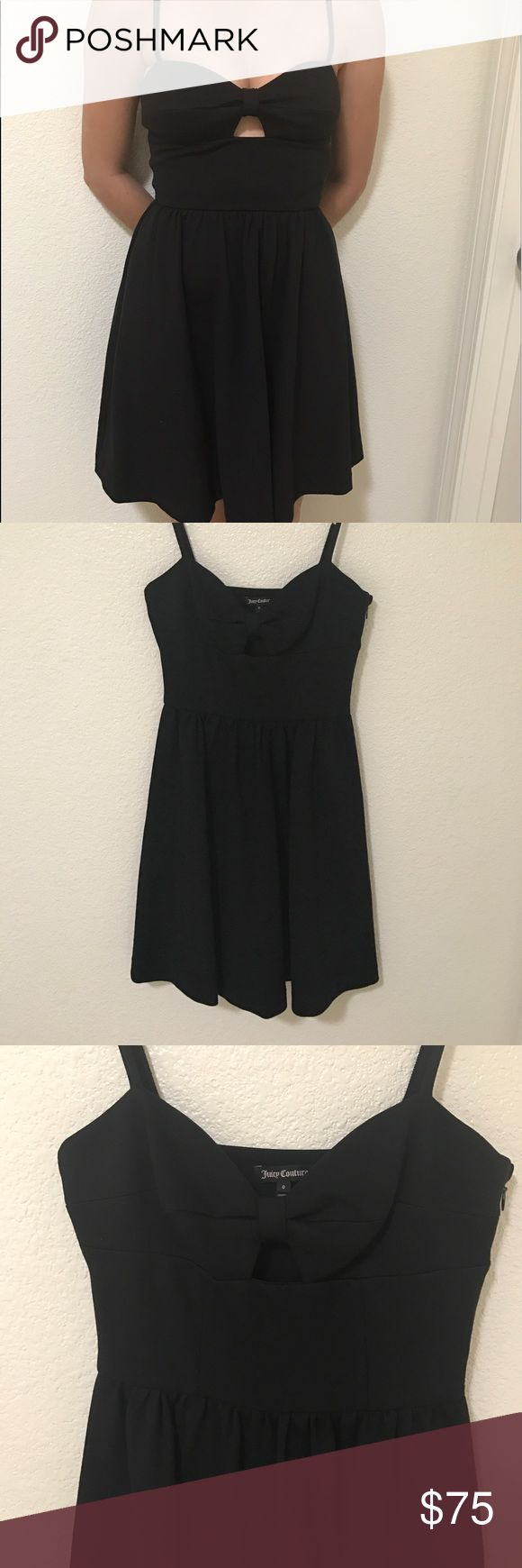 🔥FINAL Juicy couture  bow front flare dress Juicy couture black bow front flare dress wore in great condition size 0.⛔️price firm⛔️NO TRADES NO LOWBALLING Juicy Couture Dresses Midi