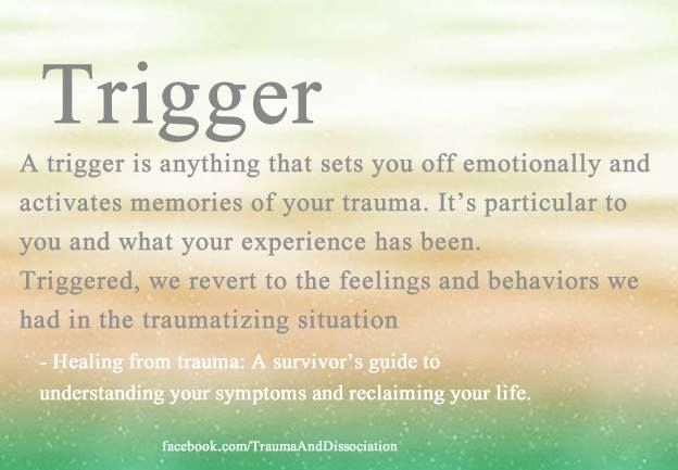 Trigger definition and help identifying what triggers PTSD