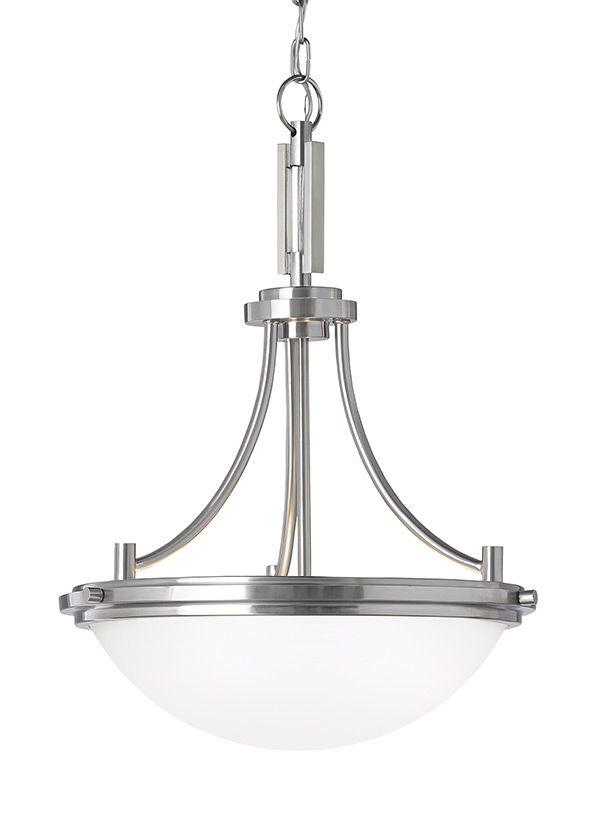 65661 962 Three Light Pendant Brushed Nickel Dining Room Light