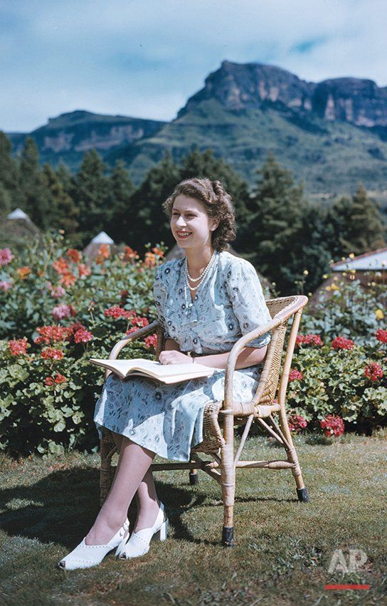 royal #flashback Princess Elizabeth on her 21st birthday, seated in Natal National Park, South Africa