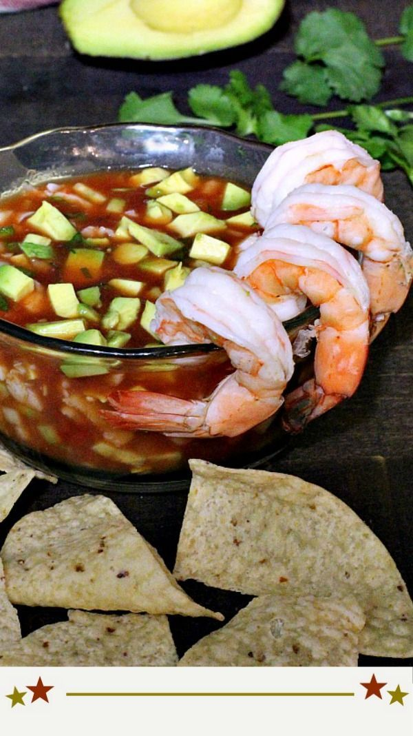 Next time you're in the mood for a shrimp cocktail appetizer, give this Mexican version a try. Campechana is a Traditional Mexican Shrimp Cocktail appetizer chock full of tomatoes, jalapeno, cucumber and more.  #Mexican #traditional #shrimp #cocktail via @lannisam