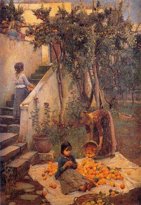 The Orange Gatherers  Date: circa 1890Medium: Oil on canvasSize: 115.6 x 80 cm
