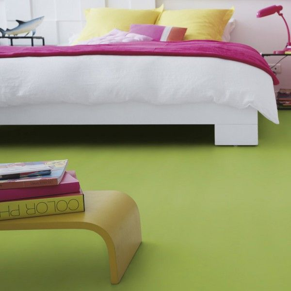 PVC Boden Tarkett Exclusive 200 Fabric Lime 2m Bild 1