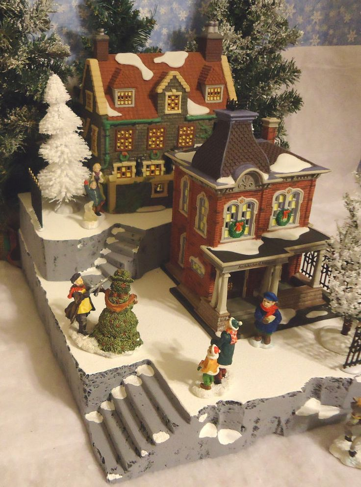 325 best christmas village images on Pinterest Department 56, Xmas - christmas town decorations