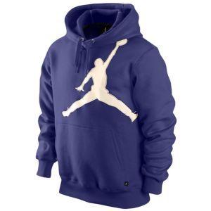Jordan Jumbo Jumpman Hoodie - Men's - Basketball - Clothing - Court Purple/Natural