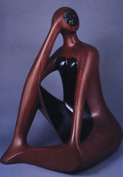 Elizabeth Catlett, Woman Reading, 1981
