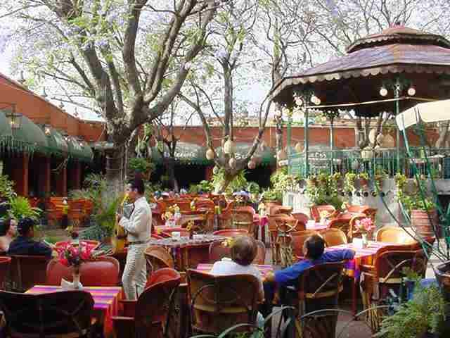 El Parian, Tlaquepaque, Jalisco.  The place to go for mariachi music, food, and ambiance.