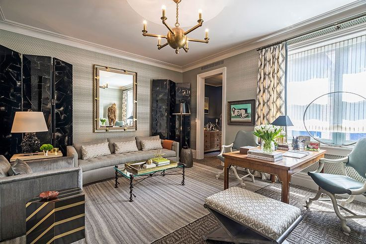"""Thom Filicia's """"Study in Style"""" at the 2015 Kips Bay Decorator Show House."""
