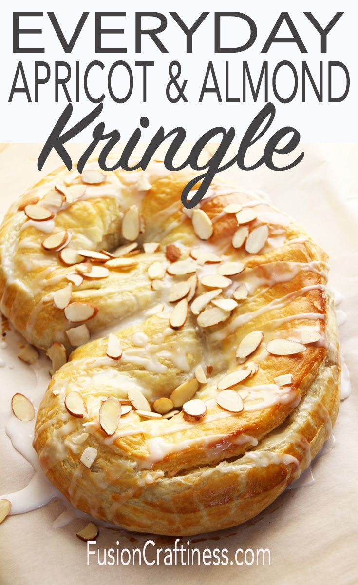 An everyday apricot and almond Danish Kringle recipe that is simple enough to make during the weekday but fancy enough for a Christmas or holiday dessert. Frozen puff pastry is a laminated dough just like Danish dough and is the perfect substitute for the home cook. A food processor makes the filling in under a minute. This is a one hour dessert that looks, smells and tastes authentic and of course, amazing.