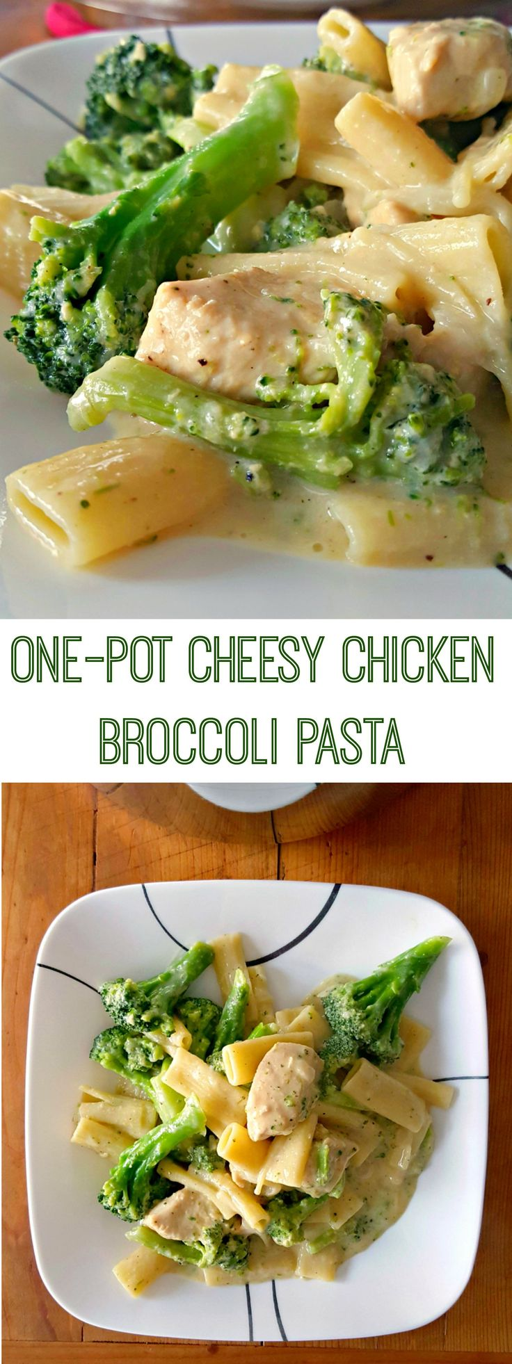Broccoli and cheddar is the perfect combination! It's also perfect in this Green and White One Pot Pasta aka Broccoli Cheddar Chicken Pasta; a one pot meal on the table super quick!