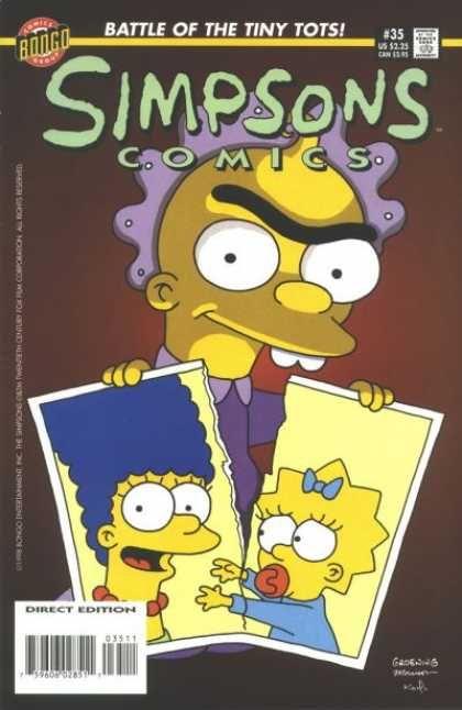 Simpsons Comics 35 - Baby - Eyebrow - Photo - Mother - Maggie Simpson