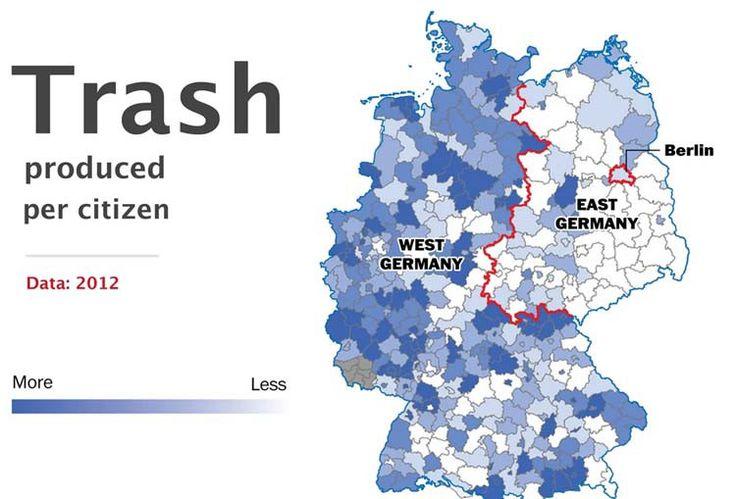 Basura - 10 hechos que demuestran que Alemania sigue dividida - Planificamos tu viaje