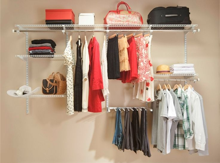 Clever closet his and hers flexiblesystem spacesaver for His and hers wardrobe