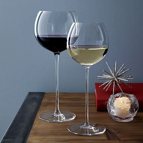 "Camille Red Wine Glasses - ""Scandal"" wine glasses Crate + Barrel"