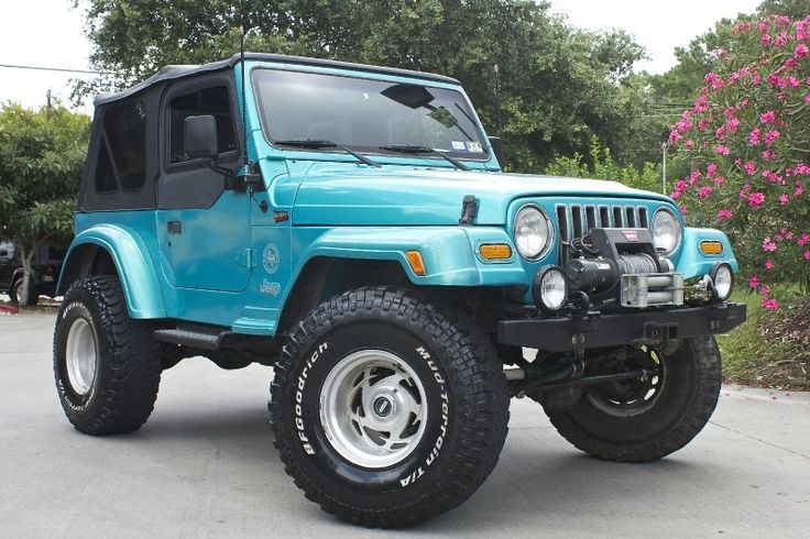 Trail Ready! 1998 Aqua Blue with 92k Miles, 5-Speed Manual, Locker, Warn Winch...... http://www.selectjeeps.com/inventory/view/7868485?1998+Jeep+Wrangler+2dr+Sport+League+City+TX