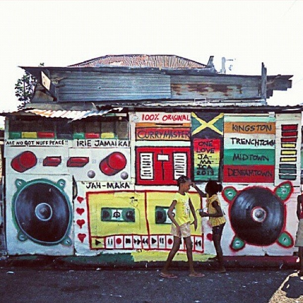 #ghettoblasterprojects Kingston Jamaica, Jah-Maka, thanks #highgrade @Andrea Santizo and curry master trenchtown, - @mike_maka- #webstagram