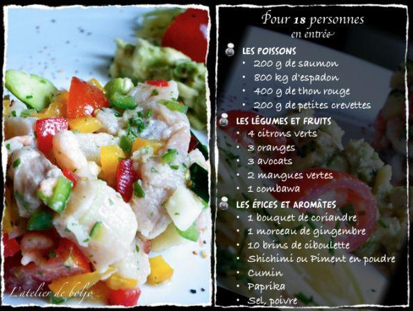 Ceviche de poissons - spécialité du Honduras