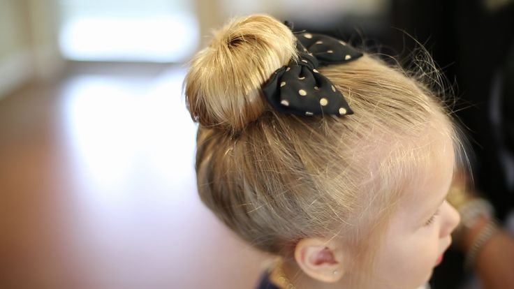 3 Easy Back to School Hairstyles for Toddlers - Sock Bun