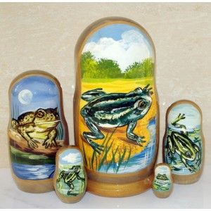 Frogs #russiandolls #diy #babushka #matroyshka #handmade #unique #animals #wildlife