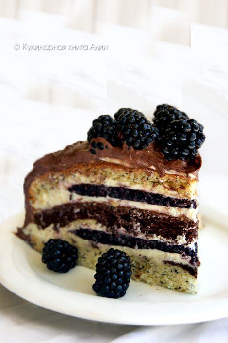 """Торт """"Орбита"""" с ежевикой"""