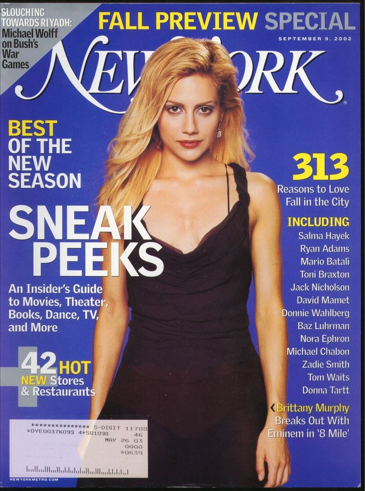 New York Magazine September 9 2002 Fall Preview Brittany Murphy 8 Mile | eBay