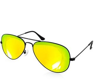 AQS Unisex Oliver Mirrored Aviator Sunglasses.