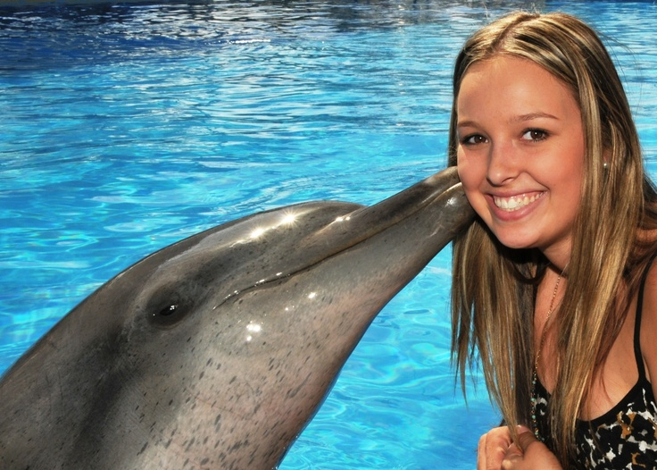 Dolphin Marine Magic (Coffs Harbour), can have a dolphin kiss :)