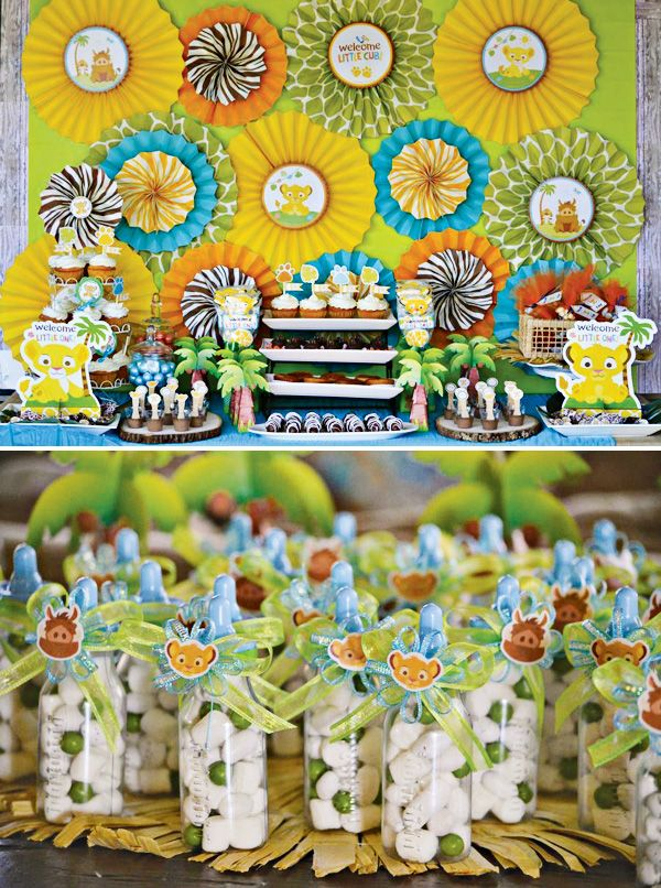 Safari Inspired Lion King Baby Shower - Hostess with the Mostess®