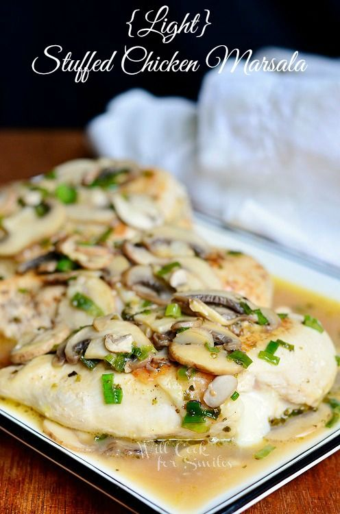 Plnené kuracie Marsala    od willcookforsmiles.com #chicken #marsala # svetlo # SmartCookies