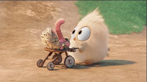 Angry Birds cute bird worm the angry birds movie