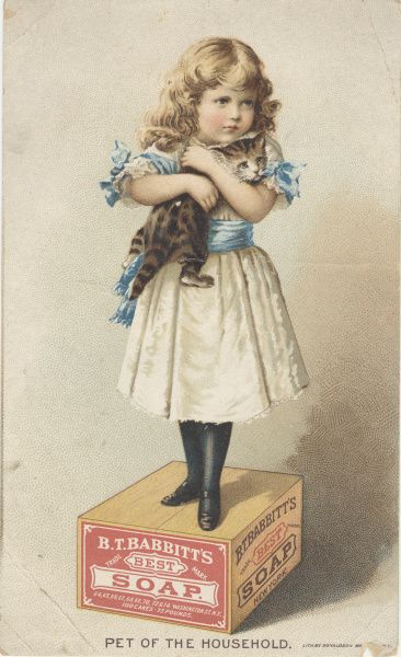 Babbitts Soap Ad   -   Literally on my soap box, even looks like me (as a child, with my favorite cat).  :)