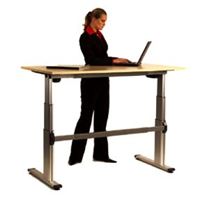 Motorised height adjustable office desks.  http://www.endoofficefurniture.com.au/products/range/office-workstations