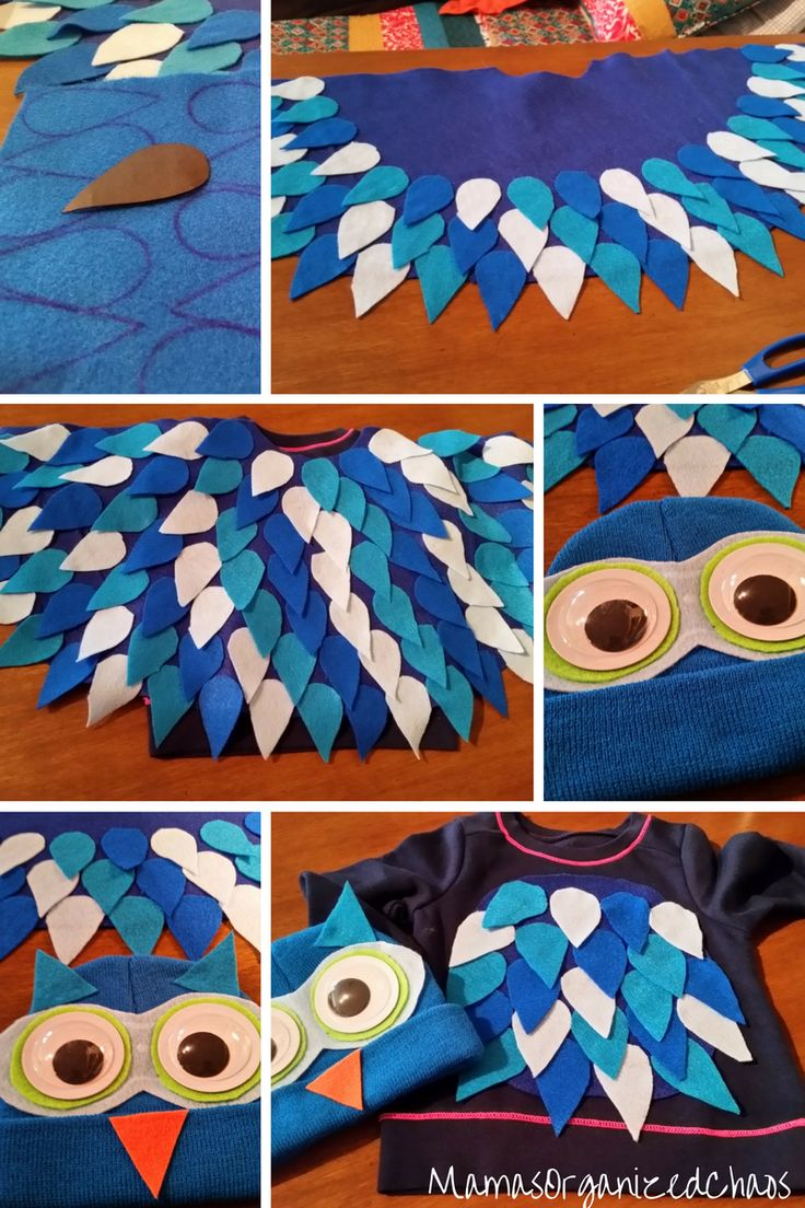 No sew O the Owl daniel Tiger Costume Halloween Sewing is not something that comes very easy for me. I don't have the patience to do it well. I can figure out a basic pattern if need b...