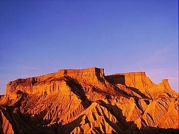 Bardenas Reales. Paisaje a visitar desde la casa rural Gigantes de Navarra.
