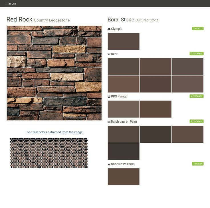Red Rock Country Ledgestone Cultured Stone B Olympic Behr