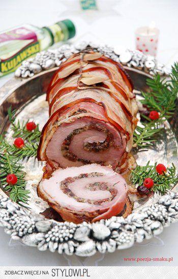 Świąteczna pieczeń schabowa z żurawiną Schab: 1 – 1,5… na Stylowi.pl