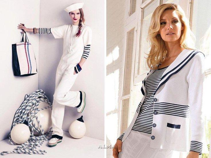 Белые шорты в морском стиле